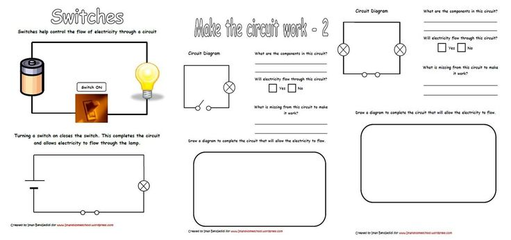 Symbols For Circuit Components 1 Natural Science Worksheet Grade