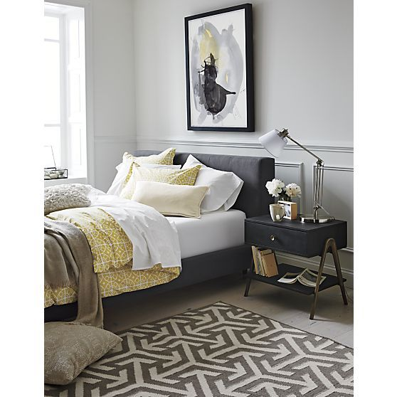 crate and barrel james d 39 arcy tate bed master bedroom james