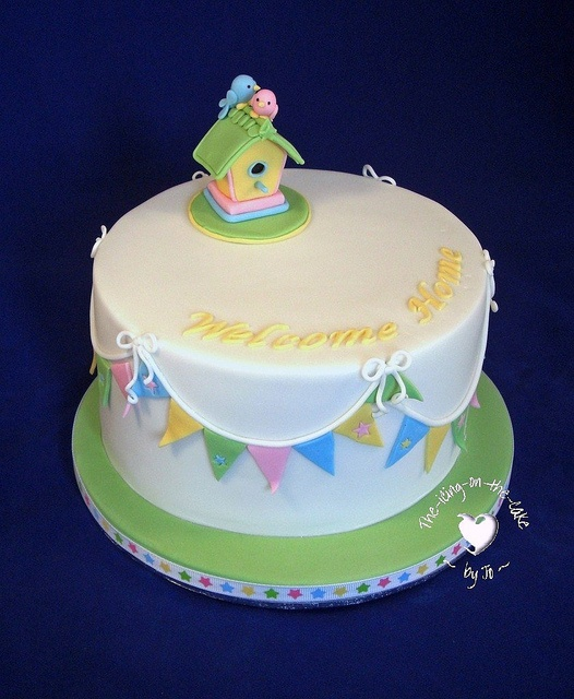 This is another fantastic bird-inspired Welcome Home cake by Jo at The Icing On The Cake.