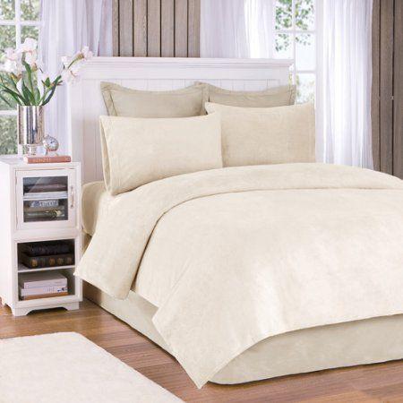 Comfort Classics Soloft Plush Solid Micro Raschel Bedding Sheet Set, White