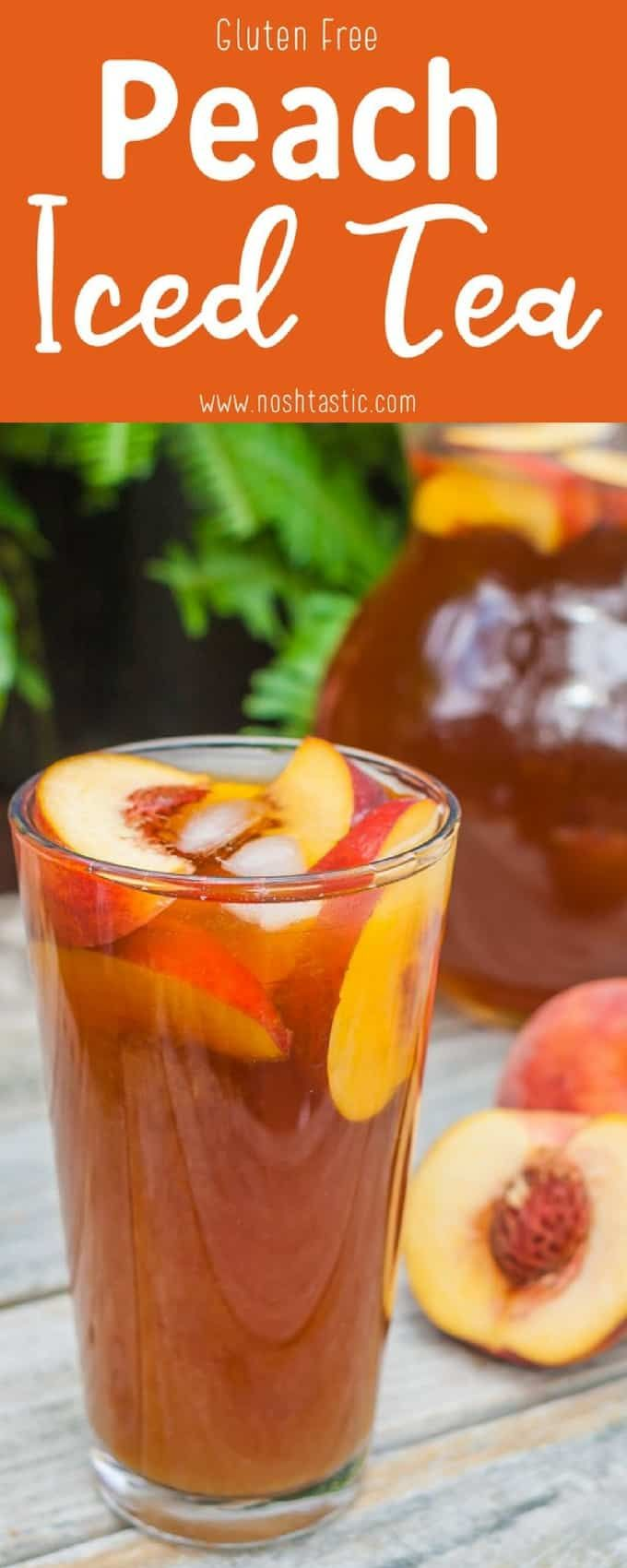 It's so simple and easy to make, Peach Iced Tea recipe made with real peache…