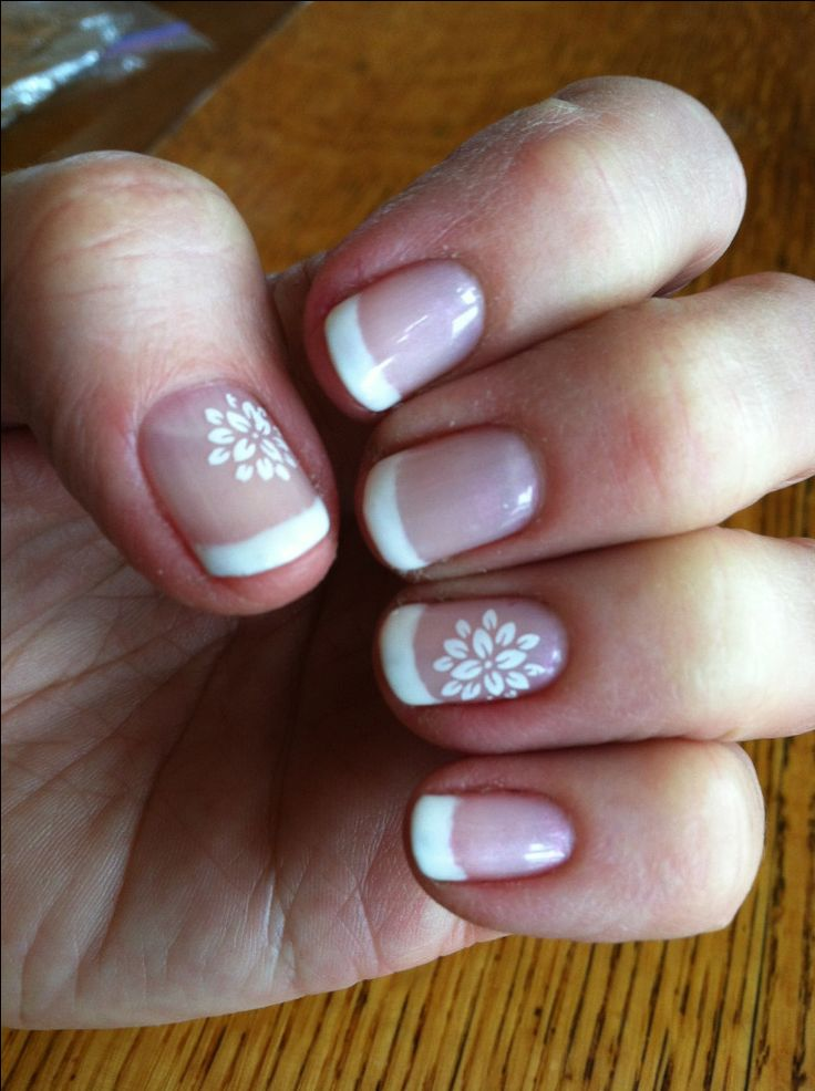 flower fingernail painting white | DownloadFrench Manicure Flower Nail Art White Fun Designs