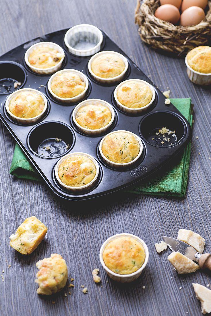 Muffin alla feta e salmone