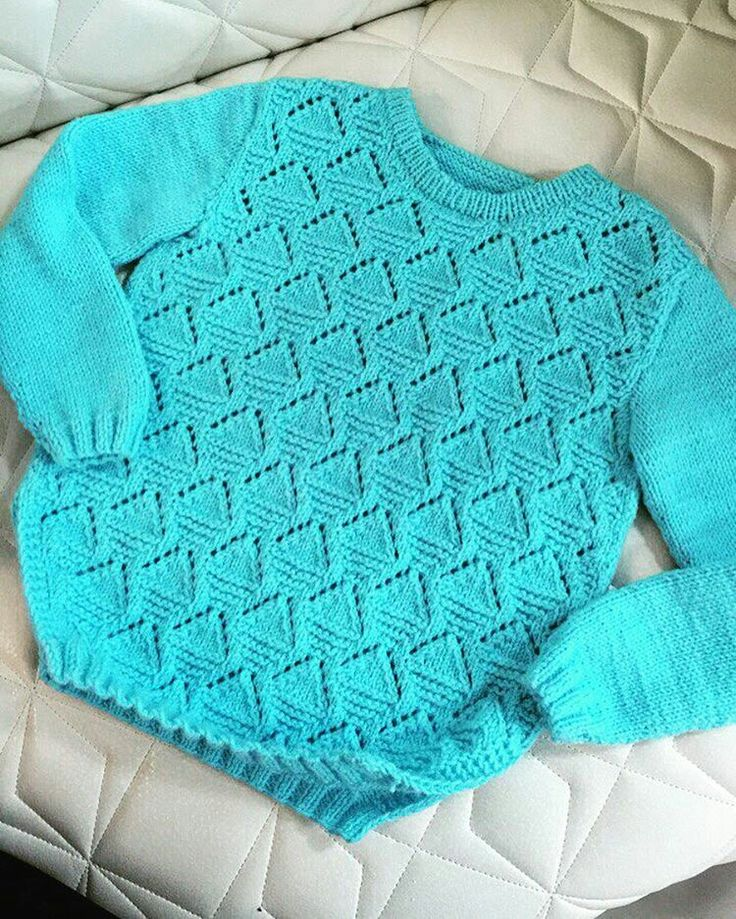 Very soft blue sweater for a little girl