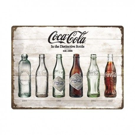 Plaque métal publicitaire #coca cola http://www.peexup.com/plaques-et-panneaux-deco/1014-plaque-metal-pub-bouteilles-de-coca-cola-vintage.html