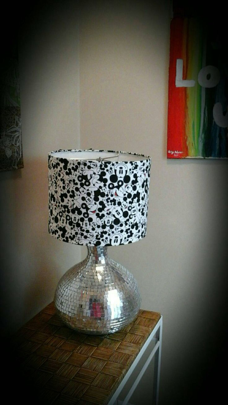Best 25 mickey mouse lamp ideas on pinterest mickey mouse mickey mouse lamp disney lamp fabric covered drum lamp shade with rhinestones and fellt bows along the back u geotapseo Gallery