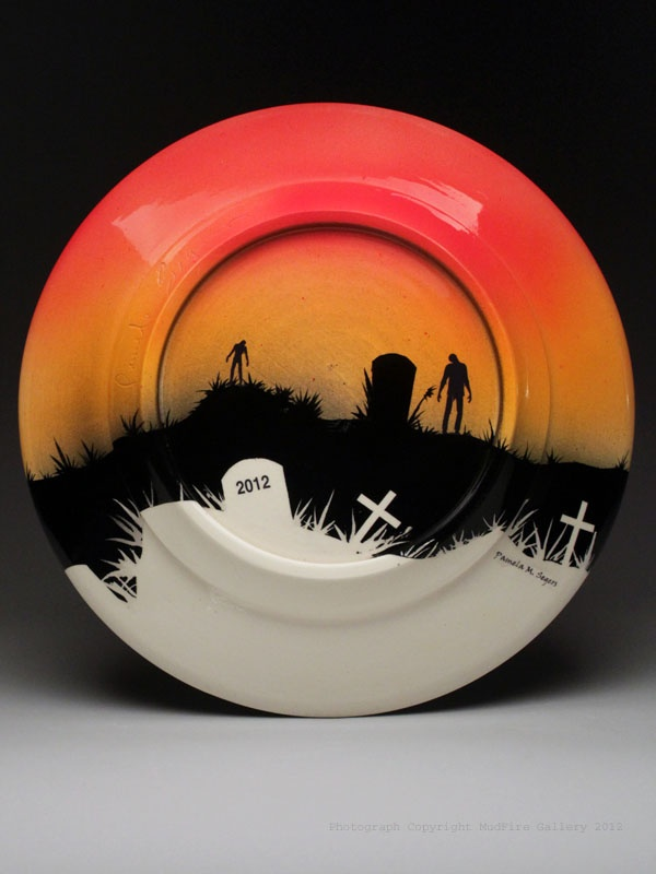 this is the bottom of a plate - Halloween Plates Ceramic