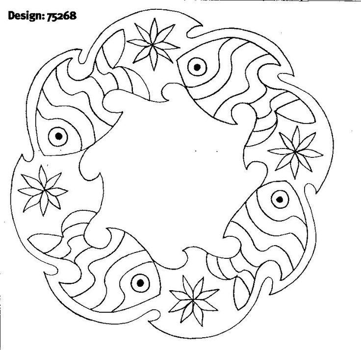 Resultado de imagen de fish mandala coloring pages