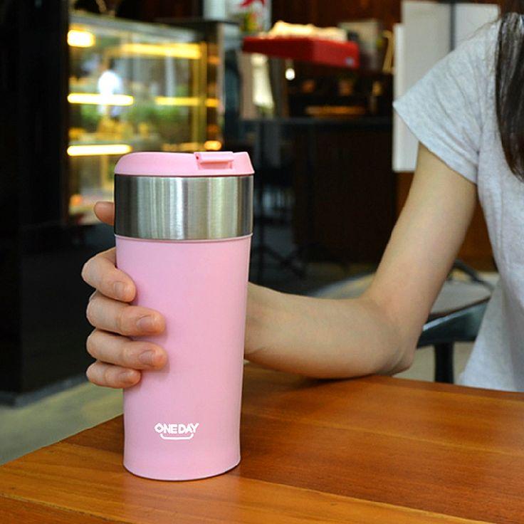 Caneca de Café do Aço inoxidável Vacuum Frascos & garrafa térmica de Chá de CAFÉ de Aquecimento CANECA Drinkware Frascos Thermocup Termos Copo Termico