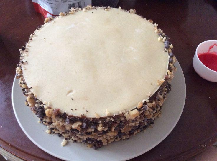 Torta de Zanahoria, Manjar, Nuez y Mazapán