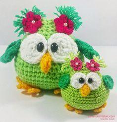 Lechuza o Búho Amigurumi - Patrón Gratis en Español aquí: http://www.clasesdecrochet.com/2014/07/patrones-crochet-gratis.html