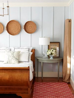 "COTTAGE  ""Wall Perks"" Use Painted Panels in Quintessential Cottage Decor"