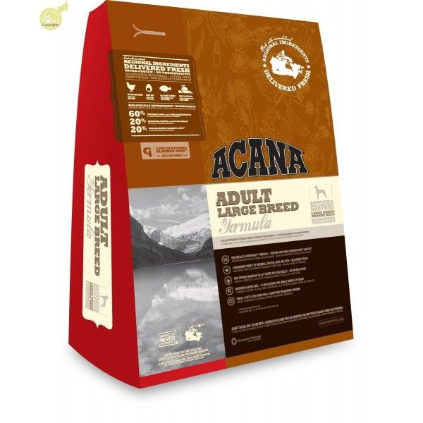 ACANA ADULT LARGE BREED - Croquettes pour Chien Adulte Grande Race 13kg disponibles sur www.lesamisdeceline.com