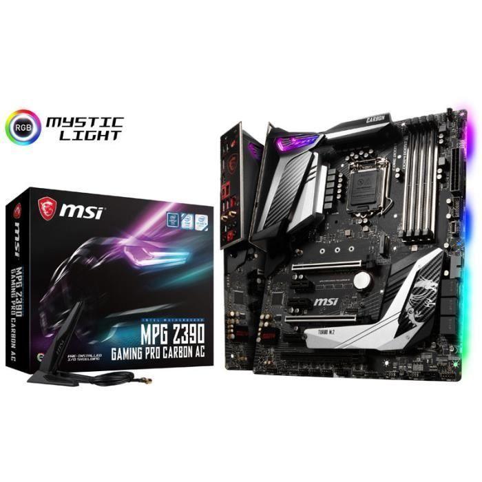 Carte Mere Msi Mpg Z390 Gaming Pro Carbon Ac Intel Z390 Sockel