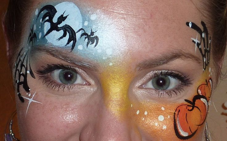 Halloween Night & Day Face Painting Tutorial, via YouTube.