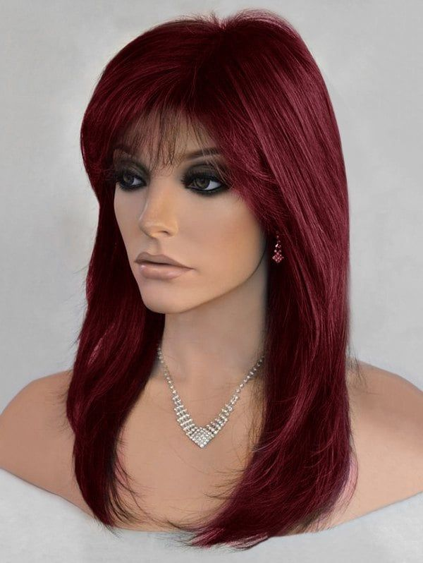 rosegal   Straight hairstyles medium, Wigs with bangs, Wig ...