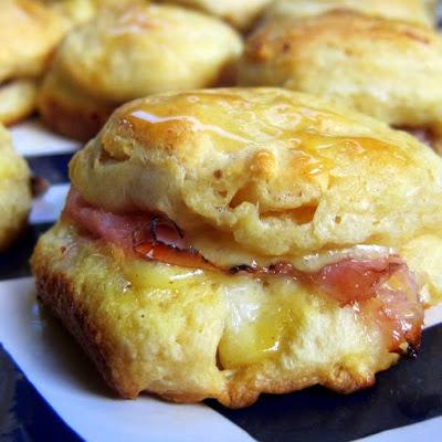 honey ham biscuit sliders ham sliders sliders party ham biscuits ...