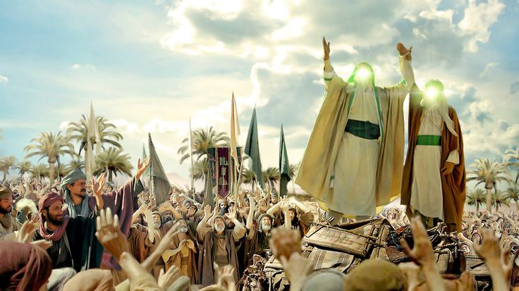 The Greatest Eid of muslims be happy to you The Holy Mohammad, after 23 years of his prophecy, and at the last year of his life, stopped all Muslims came to Haj journey beside the lake of Ghadir......