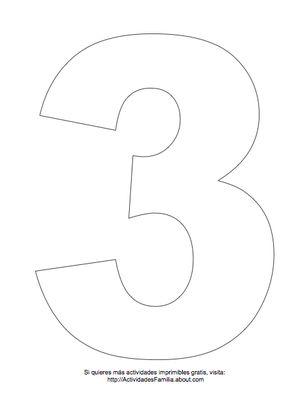 Dibujos de números para colorear