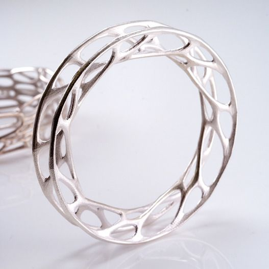 Nervous System - Convolution Silver Bangle