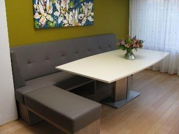 25 beste idee n over eettafel bank op pinterest - Moderne keukenbank ...