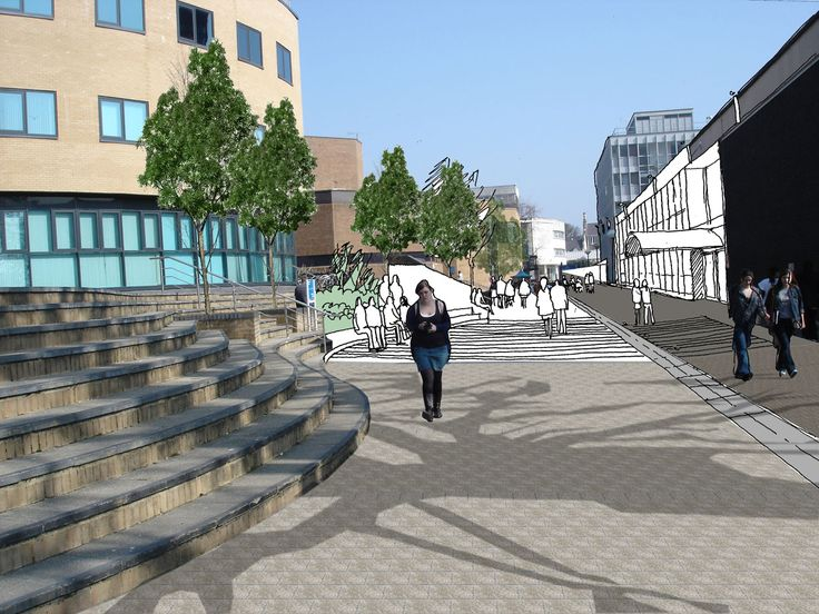 The Mall, Public Realm & External Works, Masterplan & Improvements, Swansea