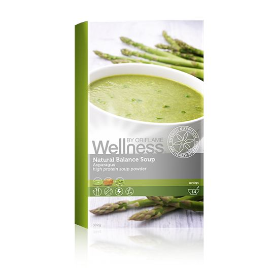 Zupa Natural Balance, szparagowa                                      Wysokobiałkowy, niskotłuszczowy środek spożywczy służący do przygotowania pysznych i sycących posiłków. Jest to produkt w 100% naturalny, zawierający kompozycję białka z trzech wegetariańskich źródeł. Z dodatkiem zdrowego oleju rzepakowego.  smakach.http://pl.oriflame.com/business-opportunity/become-consultant?potentialSponsor=826453