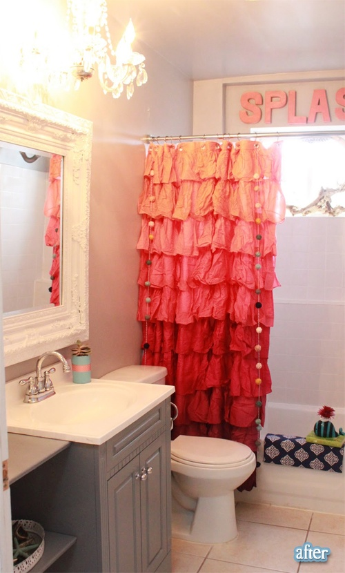 Kids Bathroom Decor Ideas ~ A Unique Shower Curtain, This Could Be A Fun DIY