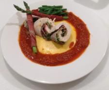 Recipe Chicken Involtini with Tomato Sauce, Creamy Polenta and Garlic Beans (Meal) by Thermomixin' Kitchen Vixen - Recipe of category Main dishes - meat