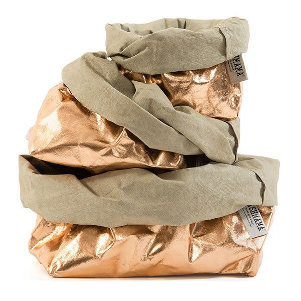 Uashmama washable paper bags-metallic rose gold available as well as other colours instore and online