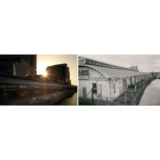 South Wharf now & then