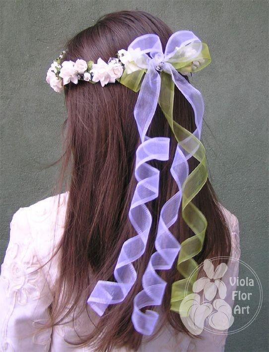 Wianuszki z kwiatów sztucznych   Viola Flor Art