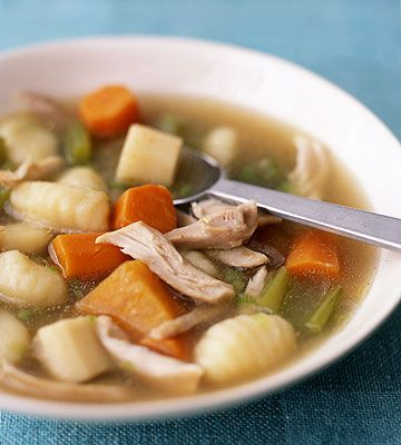 Slow-cooker meals are our favorites during winter! Try our Chicken Stew with Potato Dumplings: http://www.parents.com/recipe/chicken/chicken-stew-with-potato-dumplings/?socsrc=pmmpin113012wwfChickenStew