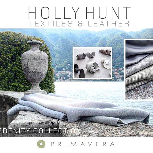 """2016 Fall, HOLLY HUNT launches the """"Serenity Collection,"""" sumptuous textures in a serene color palette inspired by the landscape of Lake Como's misty neutrals.  #design #colorful #decor #interior #interiordesign #designer #homedecor #leather #interiors #fabric #homedesign #interior4all #interiores #interior123 #homestyle #interiordesigner #interiorstyling #textiles #furnituredesign #homedecoration #homewares #interiordecorating #interiorinspiration #fabrics #homeinterior #interiorstyle…"""