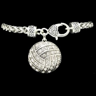 Volleyball Decorative Clasp Bracelet - Charming Collectables