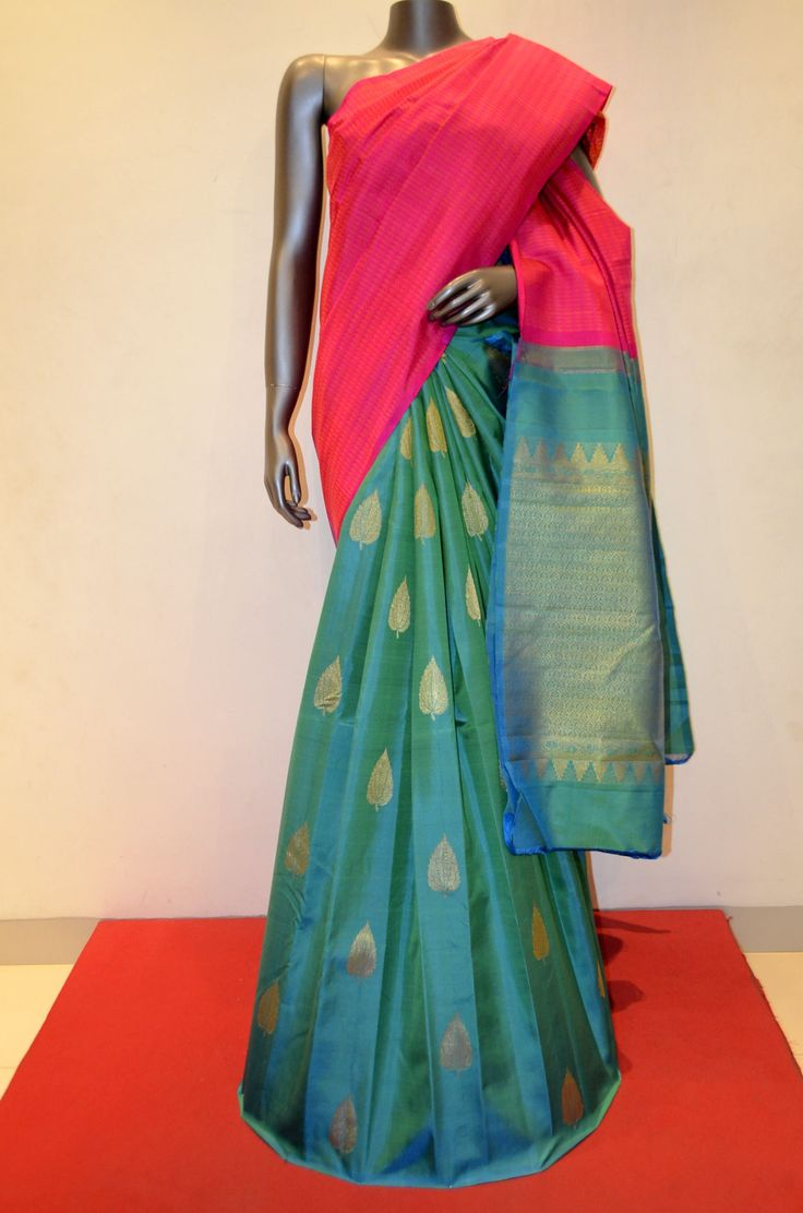 Gorgeous Kanjeevaram Patli Silk Saree Product Code: AB209914 Online Shopping: http://www.janardhanasilk.com/Saree-Collections/Kanjeevaram-Silk-Saree?product_id=3240&limit=25