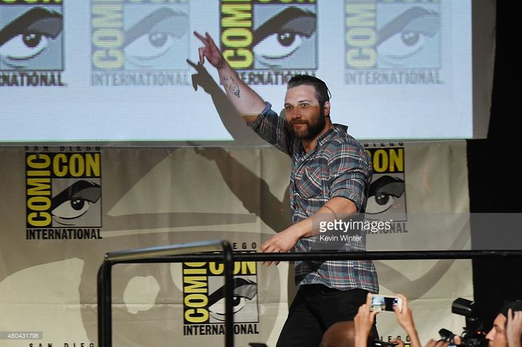 Actor Jai Courtney walks onstage at the Warner Bros. 'Suicide Squad' presentation during Comic-Con International 2015 at the San Diego Convention Center on July 11, 2015 in San Diego, California.