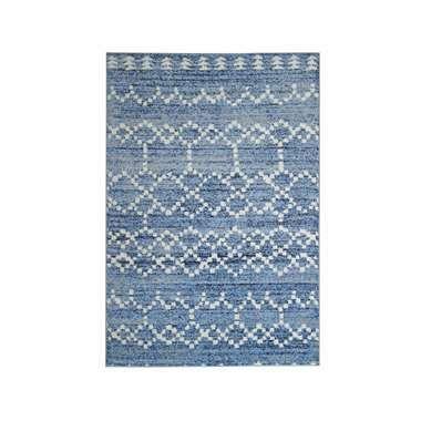 Vloerkleed Florence mozaiek - blauw - 200x290 cm
