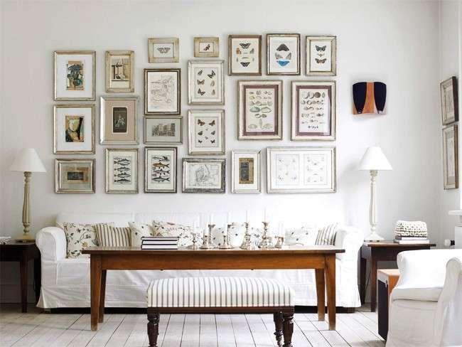 Abbinare divano alle pareti - Bianco come protagonista