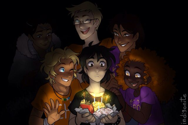 Nico di Angelo's birthday Wait... WAIT A SECOND... IS THAT BIANCA IN THE BACKGROUND?!?! *Cries infinitely*