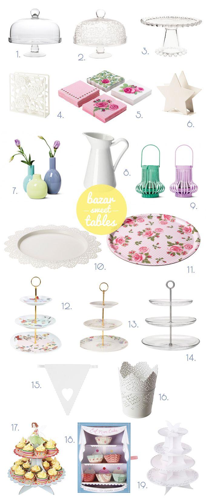 Las sweet table o mesas de dulces están de moda. Os dejamos unas ideas por si tenéis un evento próximamente y queréis montar una.