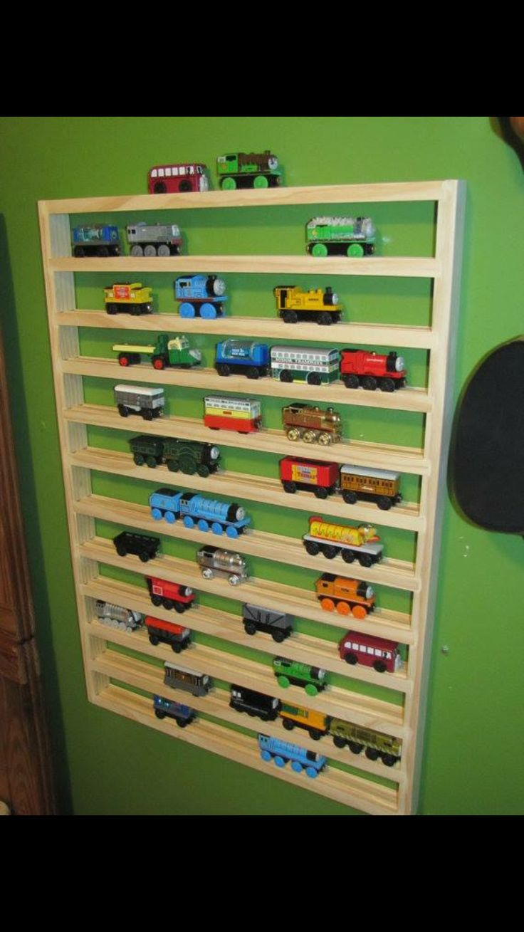 thomas train storage rack by on etsy could make one for my essential oils