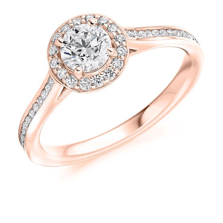 Halo Set 0.85ct Round Brilliant Cut Diamond Ring | Reppin & Jones Jewellers
