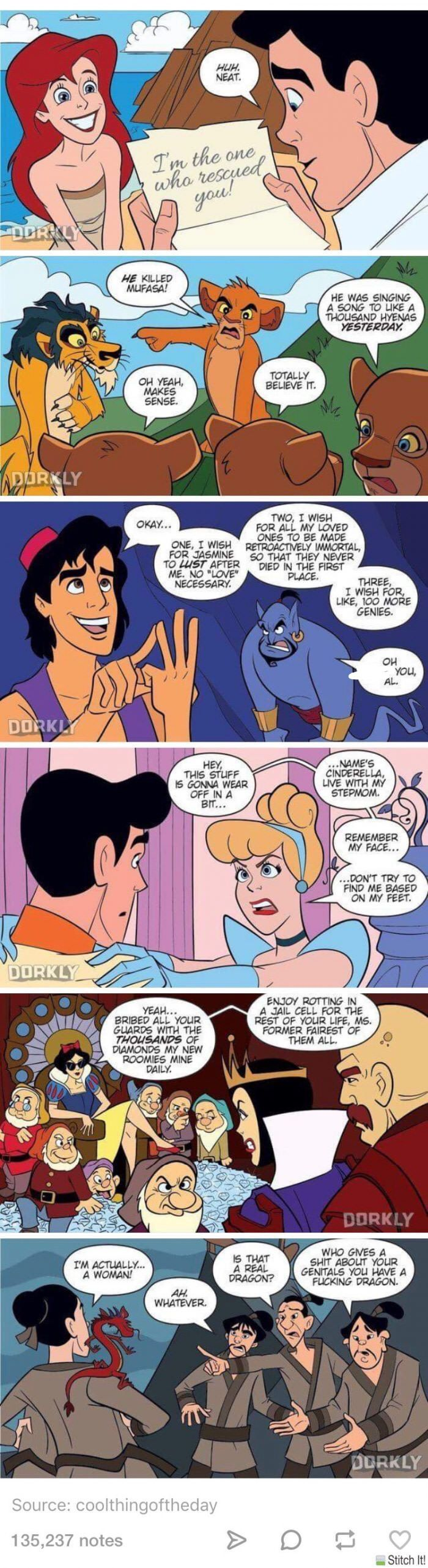 If Disney movies were in real life lol