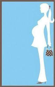 Resultado de imagen para silueta de mujer embarazada