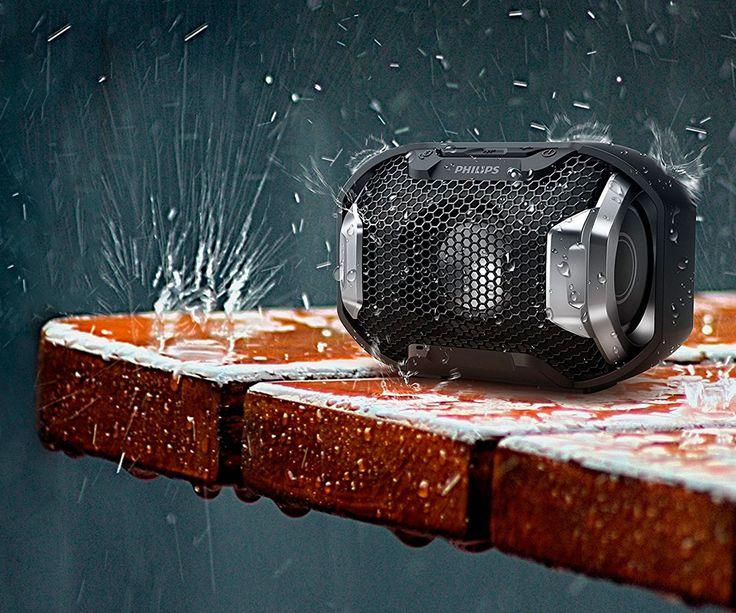 PHILIPS SB300B/00 Altavoz Inalámbrico Reproduce musica desde Smartphones Luces LED multicolor Fabricado para el exterior, a prueba de agua IPX7 y a prueba de golpes Micrófono integrado para llamadas manos libres http://www.materialdirecto.es/es/altavoces/77335-philips-sb300b00-altavoz-inalambrico-0489518562342.html