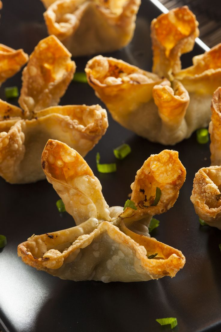 Crispy Crab Rangoon...The combination of the crispy wonton with the somewhat sweet filling of crab, cream cheese, and of course a few other essential additions for flavoring somehow makes this simple dish open to a variety of changes you could think of for the filling.