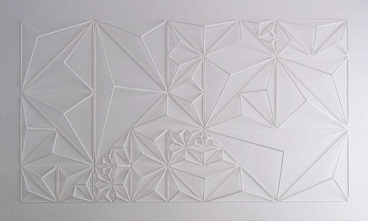 poly paper sculpture by Matthew Shlian
