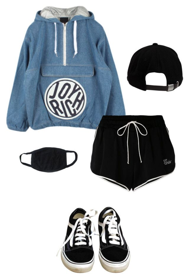 airport style by bts-suga on Polyvore featuring polyvore fashion style Joyrich Off-White Vans Brixton clothing