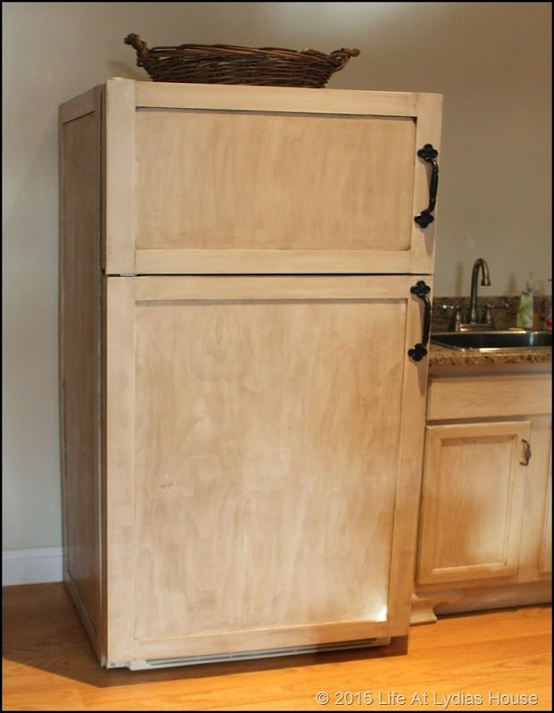 Charming How To Make Cabinet Panels For An Old Refrigerator